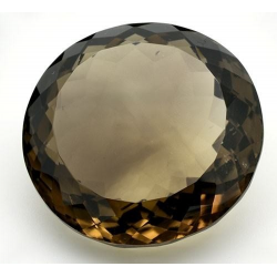Smoky Quartz from Brazil in Round Size. 64.04 ct. 27x13mm