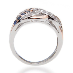 Sapphire & 925 Sterling Silver Ring