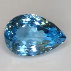 11.90ct Blue Topaz  Pear Cut