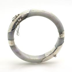 Jade and 925 Sterling Silver Bracelet