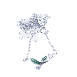 Zircons and 925 Sterling Silver DIY necklace