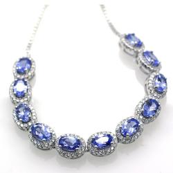 Tanzanite and Silver 925 Bracelet
