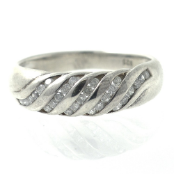 Diamonds and Silver 925 Ring