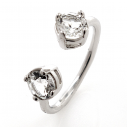 Ring You and Me of different gems and Silver 925