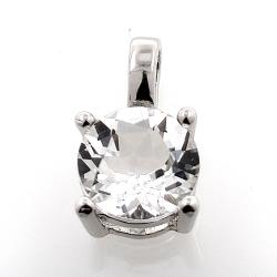 White topaz pendant and 925 silver