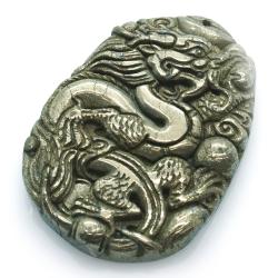 Pyrite Dragon Pendant