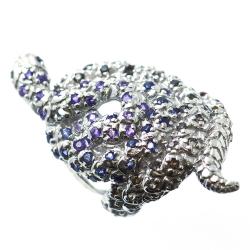 Ring Serpent Multigemas and Silver 925