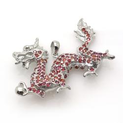 Sapphire and Silver 925 Dragon Pendant