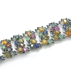Multigem and Silver 925 Bracelet
