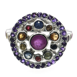 Multigeme Ring and Silver 925