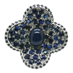 Sapphires and Silver 925 Ring