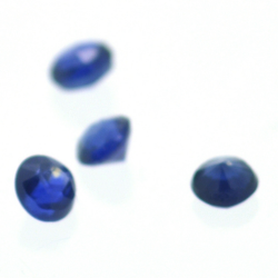 Glass Filled Sapphire Round Cut 5 mm