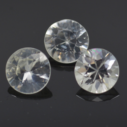 Natural white colorless zircon 5mm 4pz