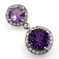 White topaz or Amethyst pendant and 925 silver