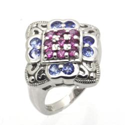 Tanzanite & Tourmaline & 925 Sterling Silver Ring