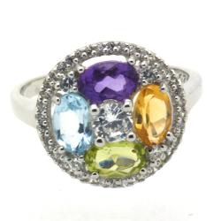 Multigems & 925 Sterling Silver Ring