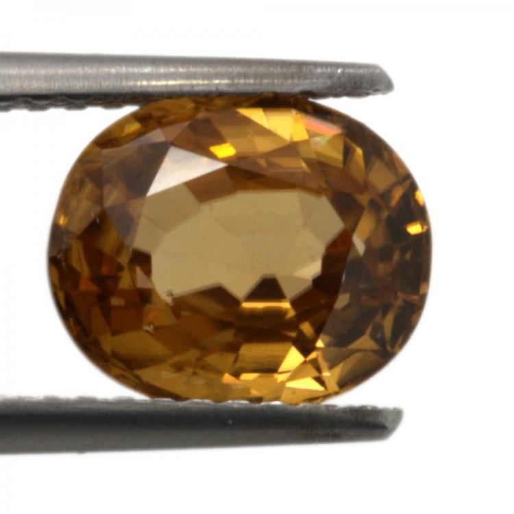 3.14ct Orange Zircon oval cut 8.7x7.3mm