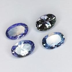1.84ct Tanzanite oval size 6x4mm 4pc
