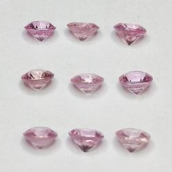 Round cut pink sapphire 2.4mm 1ct
