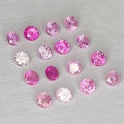 Round cut pink sapphire 1.6-1.8mm 1ct