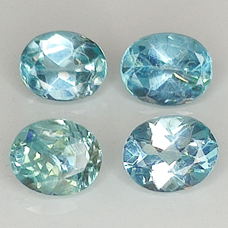 Blue apatite color paraiba 5x4mm 5pz