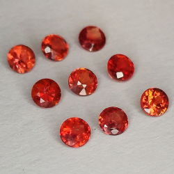 Rouge Songea Sapphire Coupe Ronde 2.1-2.9mm 1ct