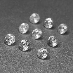 Zircone bianco naturale incolore 2,1-4,6 mm 1 ct