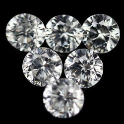 Natural white colorless zircon 2.1-4.6mm 1ct