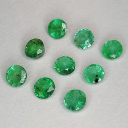 Round cut emerald 2.9-3.8mm 1ct