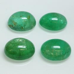 Emerald oval cabochon 10x8mm 1pz
