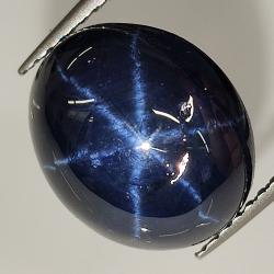 Star sapphire oval cabochon 12x10mm 1pc