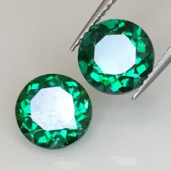 Green topaz round cut 8mm 1pz