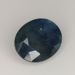 4.64ct Zaffiro Blu effetto seta taglio ovale 10.9x8.7mm