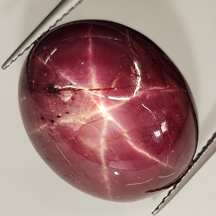 30.64ct Sapphire Star Purple oval cabochon 18.3x15.0mm