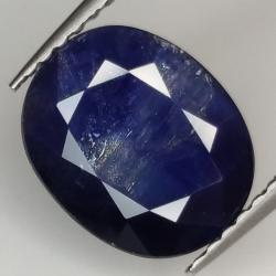 3.58ct Blue Sapphire oval cut 9.8x8.0mm