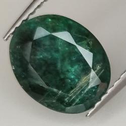 2.49ct Emerald oval cut 9.6x7.8mm