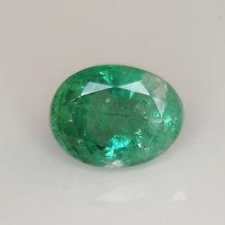 2.12ct Emerald oval cut 9.0x6.9mm