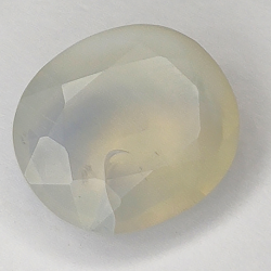5.95ct White Opal oval cut 15.0x12.9mm
