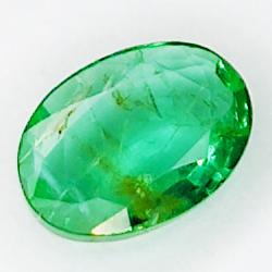 0.63ct Emerald oval cut 7.0x5.0mm