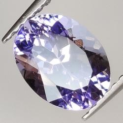 1.77ct Tanzanite oval cut 8.6x6.5mm