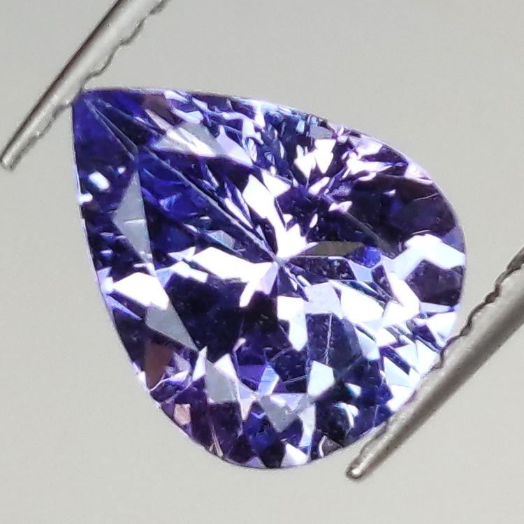 1.51ct Tanzanite pear cut 8.9x6.9mm