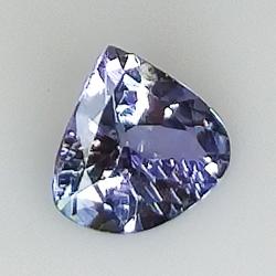 1.26ct Tanzanite pear cut 7.9x7.5mm