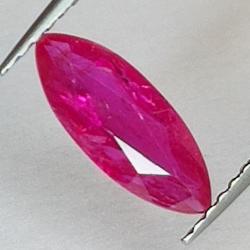1.02ct Ruby marquise cut 11.2x4.4mm