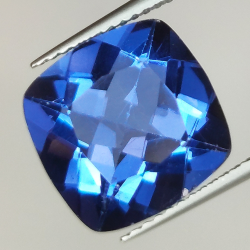 7.87ct Fluorite Color Change cushion cut 12.0x12.0mm