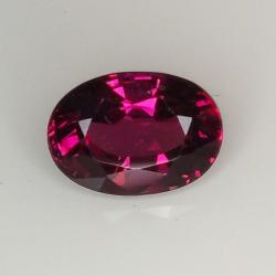 2.82ct Rhodolite Garnet oval cut 9.3x6.6mm