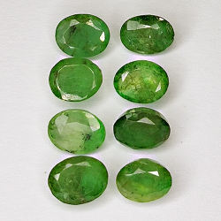 4.51ct Emerald oval cut 5.5x4.3mm 8pc
