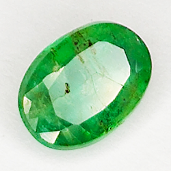 0.63ct Emerald oval cut 6.5x4.7mm
