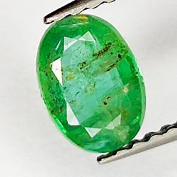0.63ct Smeraldo taglio ovale 6.5x4.7mm
