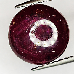 5.39ct Ruby Star cabochon oval 9.1x8.9mm