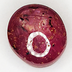 4.90ct Ruby Star cabochon oval 8.7x7.9mm